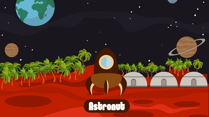ASTRONUT landed on the planet