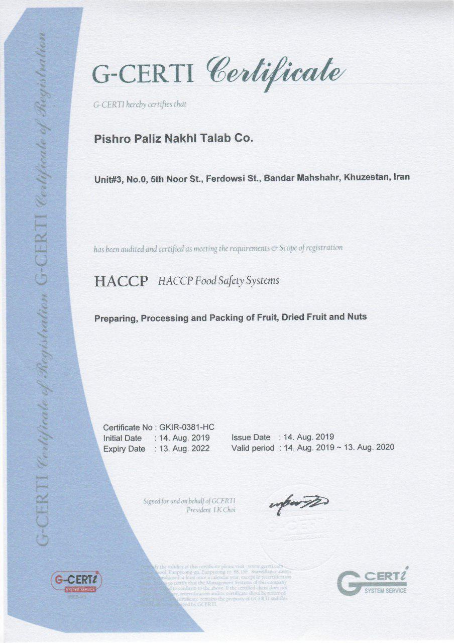 HACCP Food Safety Systems